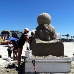 ロングビーチで砂の彫刻イベント♪